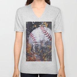 Baseball Art 5 Unisex V-Neck