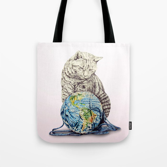 In which our feline deity shows restraint  Tote Bag