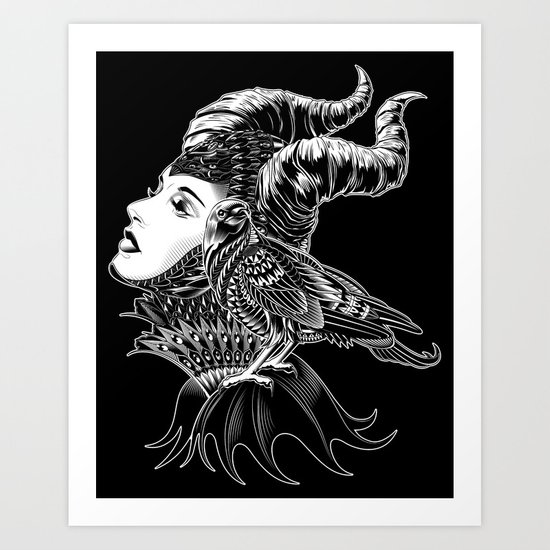 Maleficent Tribute Art Print