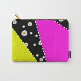 Retro Neon Dasiy Pattern Carry-All Pouch