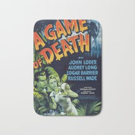 A Game of Death, vintage horror movie poster Bath Mat
