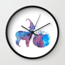 Witch Llama Wall Clock
