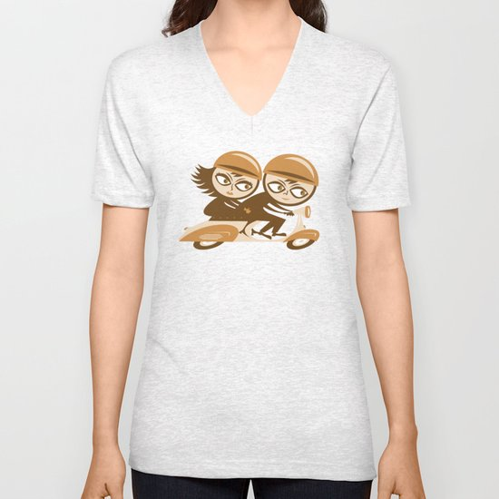 The Infinite Loop Unisex V-Neck