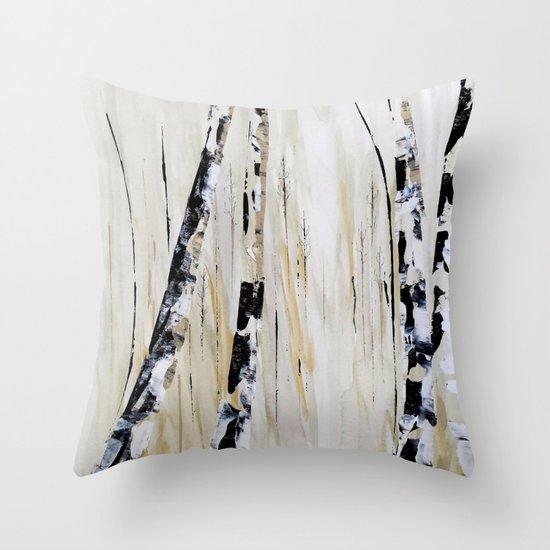 Birch Trees Throw Pillow