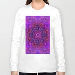 Peaceful Plum (Mandala)  Long Sleeve T-shirt