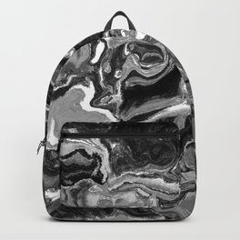 Black and White Abstract Art Backpack