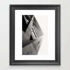 Building Fade Framed Art Print