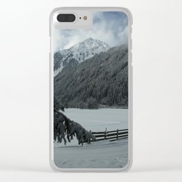 Winterday In The Mountains Clear iPhone Case