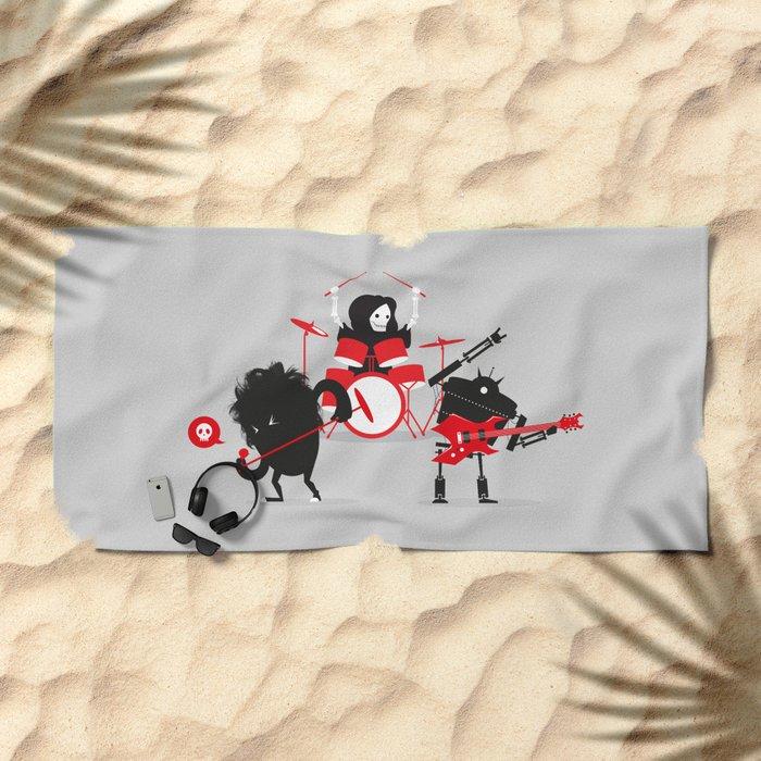Monsters of Metal Beach Towel