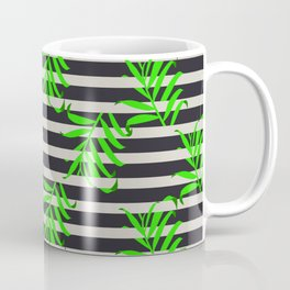 Beautiful seamless vector floral pattern background with tropical palm leaves Coffee Mug