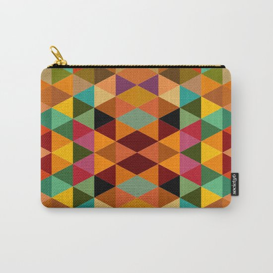Middle Triangles Carry-All Pouch