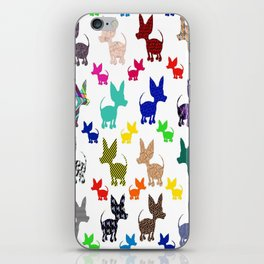 colorful chihuahuas on parade  iPhone Skin