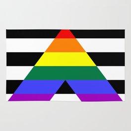 Straight Ally flag Rug