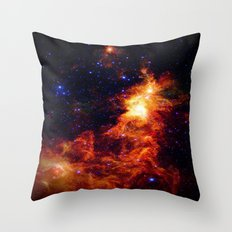 Fiery gAlAXy Indigo Stars Throw Pillow