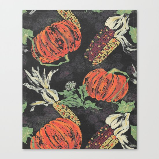 pumpkin patch nite Canvas Print