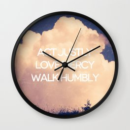 Love Mercy - Micah 6:8 Wall Clock