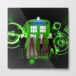 Tardis The Doctor Green Shine Gallifrey Metal Print