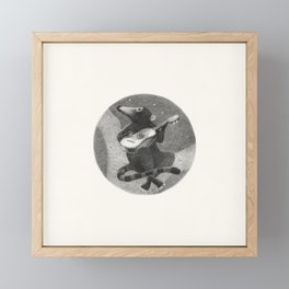 "FS. ""Serenade"" coati with vihuela Framed Mini Art Print"