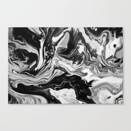 Black and White Marble  Canvas Print