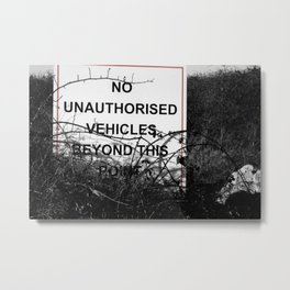 No vehicles sign Metal Print