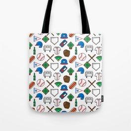 Baseball Icons Print Tote Bag