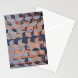 Tumbling Blocks (Sky Quilt 3) Stationery Cards