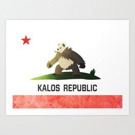 Pangoro - Kalos Republic Art Print