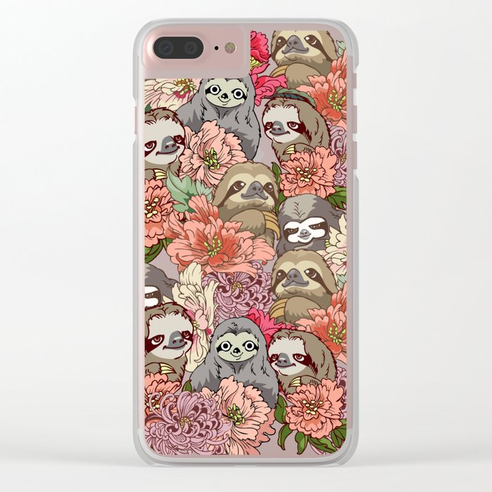 Because Sloths Clear iPhone Case