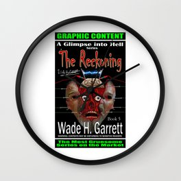 """""""The Reckoning"""" book cover art with signature Wall Clock"""