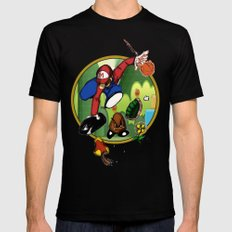 Mario landS Black SMALL Mens Fitted Tee