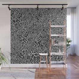 Psychedelic Black and White Stoner Wall Mural