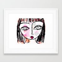 sassy Framed Art Prints featuring Sassy by Rachelle Panagarry