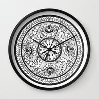 amelie Wall Clocks featuring Amelie by Gabrielle Greet