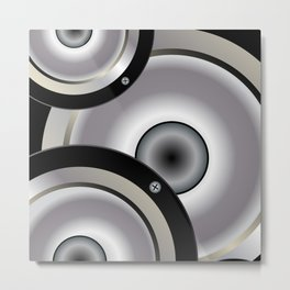 Speaker Music Background Metal Print