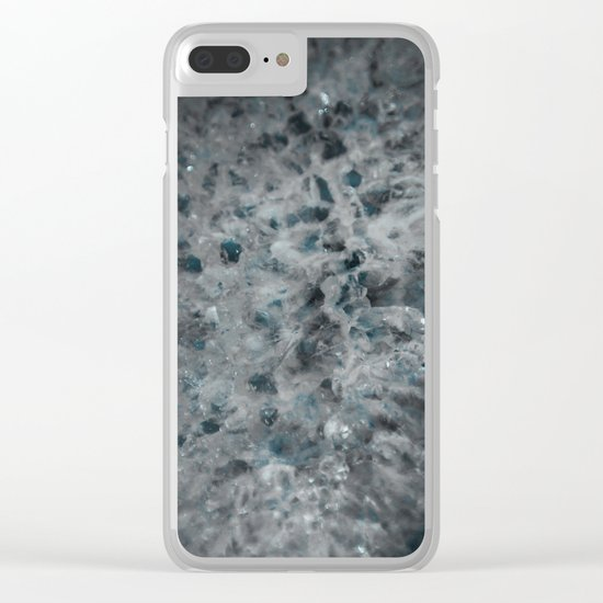 Blue and white agate Clear iPhone Case