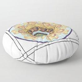 Spinning Gold Floor Pillow