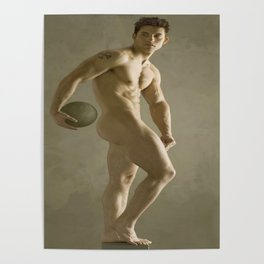 Neo-classical NudeMale Art Study Poster