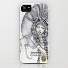 JennyMannoArt graphite and watercolor/Katherine iPhone Case
