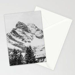 black and white like forest and snow Stationery Cards