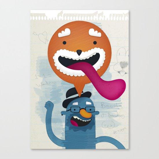 Biscuits & Boobies No. 1 Canvas Print