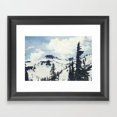 Stand On a Mountain Framed Art Print