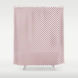 Dusty Cedar Polka Dots Shower Curtain
