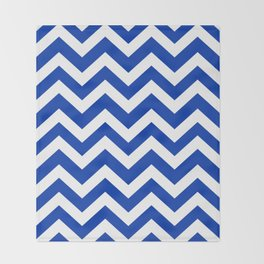 UA blue - blue color -  Zigzag Chevron Pattern Throw Blanket