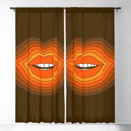 Pop Lips - Golden Blackout Curtain