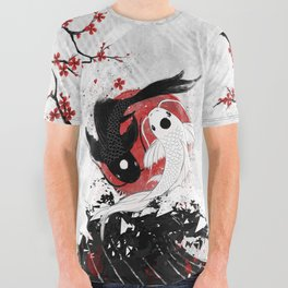 Koi fish - Yin Yang All Over Graphic Tee