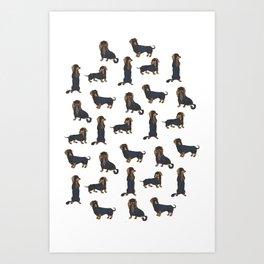Dachschund Delight Art Print
