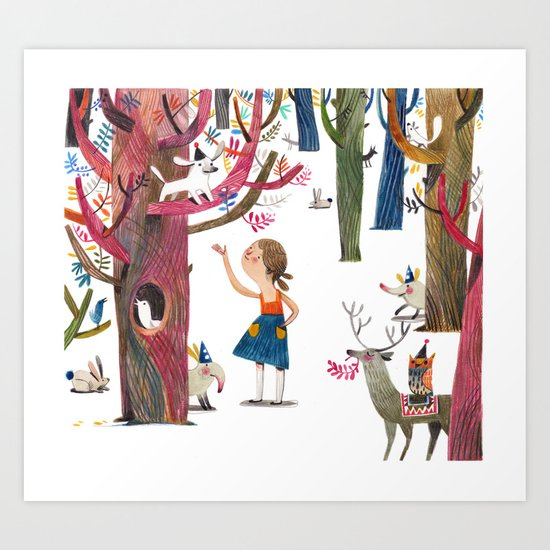 dans le bois Art Print