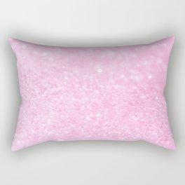 Pink Shiny Glitter Abstract Bokeh #decor #society6 Rectangular Pillow