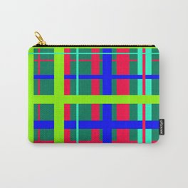 Tropical Plaid Carry-All Pouch