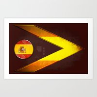 spain Art Prints featuring Spain by ilustrarte